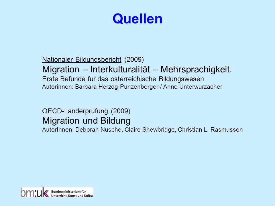 Quellen Migration – Interkulturalität – Mehrsprachigkeit.