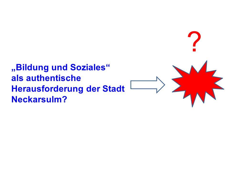 """""""Bildung und Soziales"""