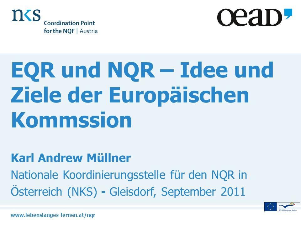 EQR und NQR – Idee und Ziele der Europäischen Kommssion
