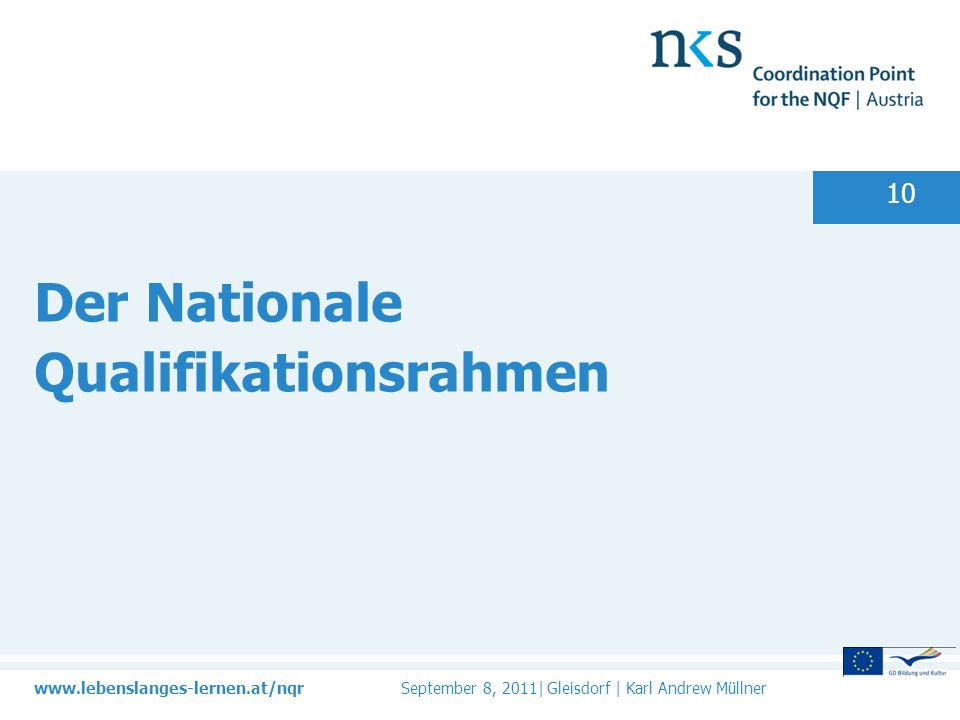 Der Nationale Qualifikationsrahmen