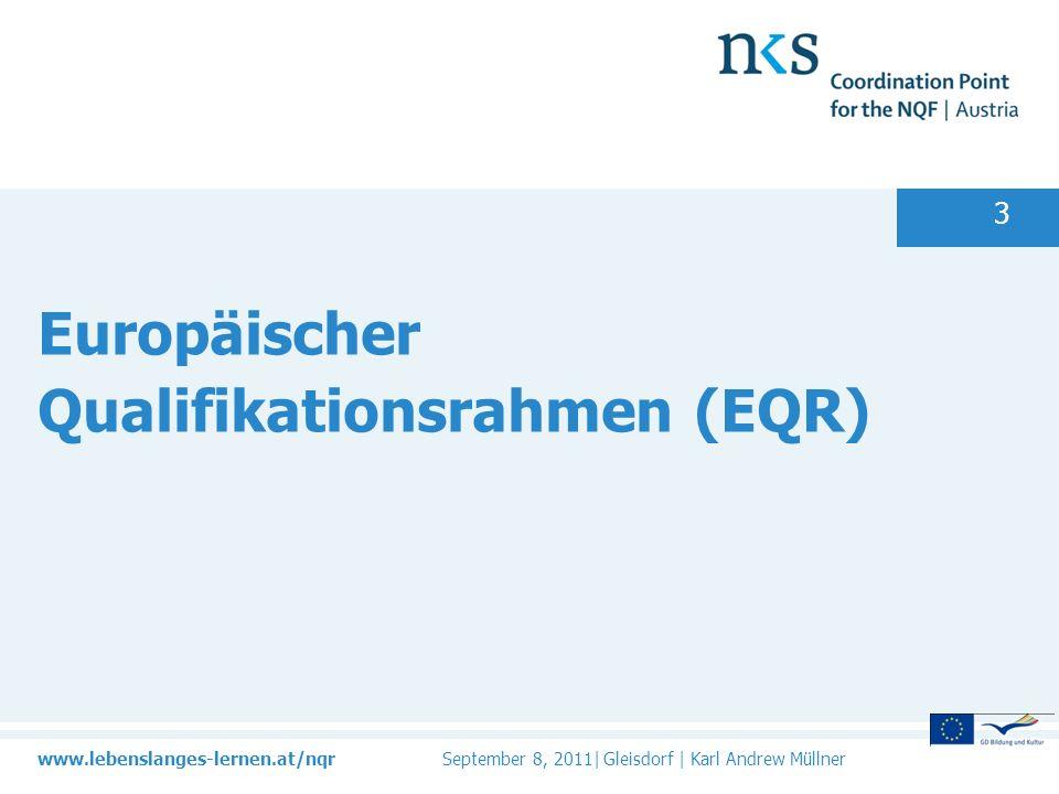 Europäischer Qualifikationsrahmen (EQR)