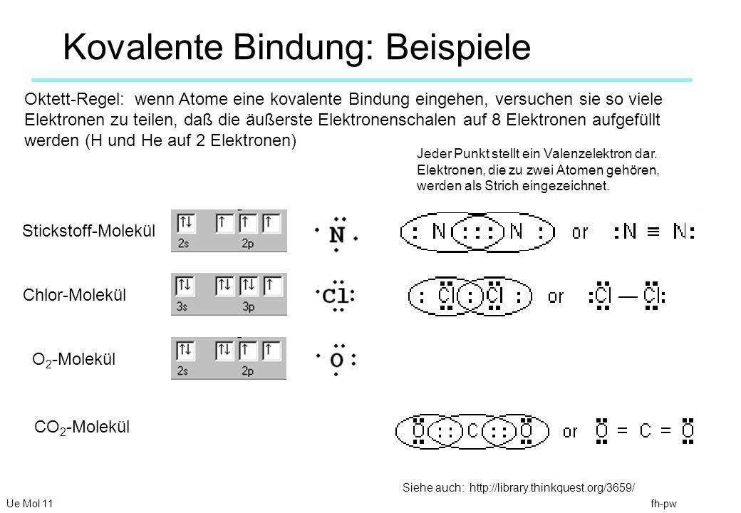 Kovalente Bindung: Beispiele
