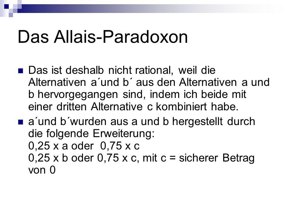 Das Allais-Paradoxon