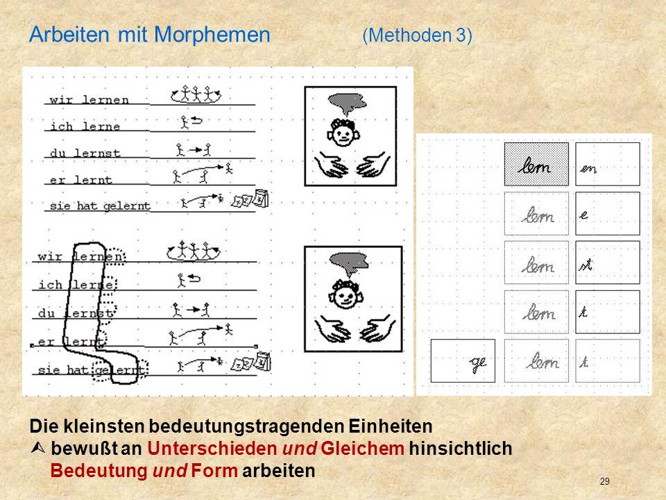 Arbeiten mit Morphemen (Methoden 3)