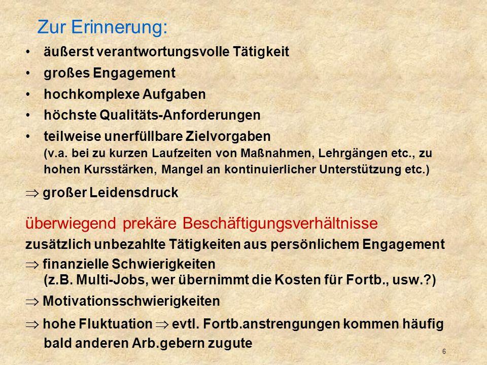Zur Erinnerung: überwiegend prekäre Beschäftigungsverhältnisse