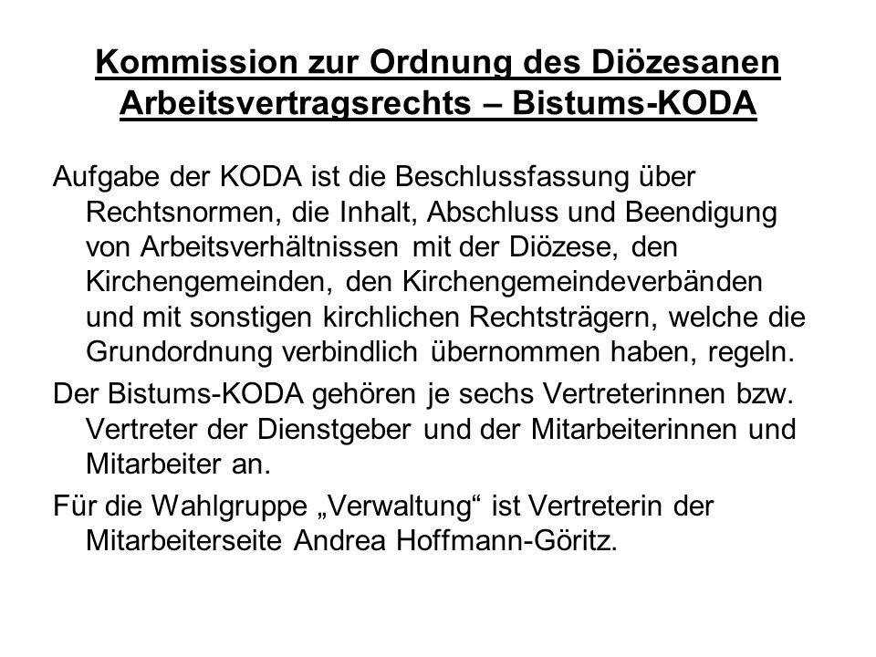 Kommission zur Ordnung des Diözesanen Arbeitsvertragsrechts – Bistums-KODA