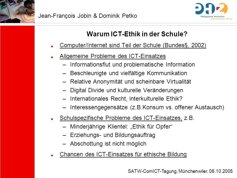 Warum ICT-Ethik in der Schule