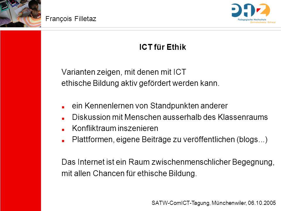 Varianten zeigen, mit denen mit ICT