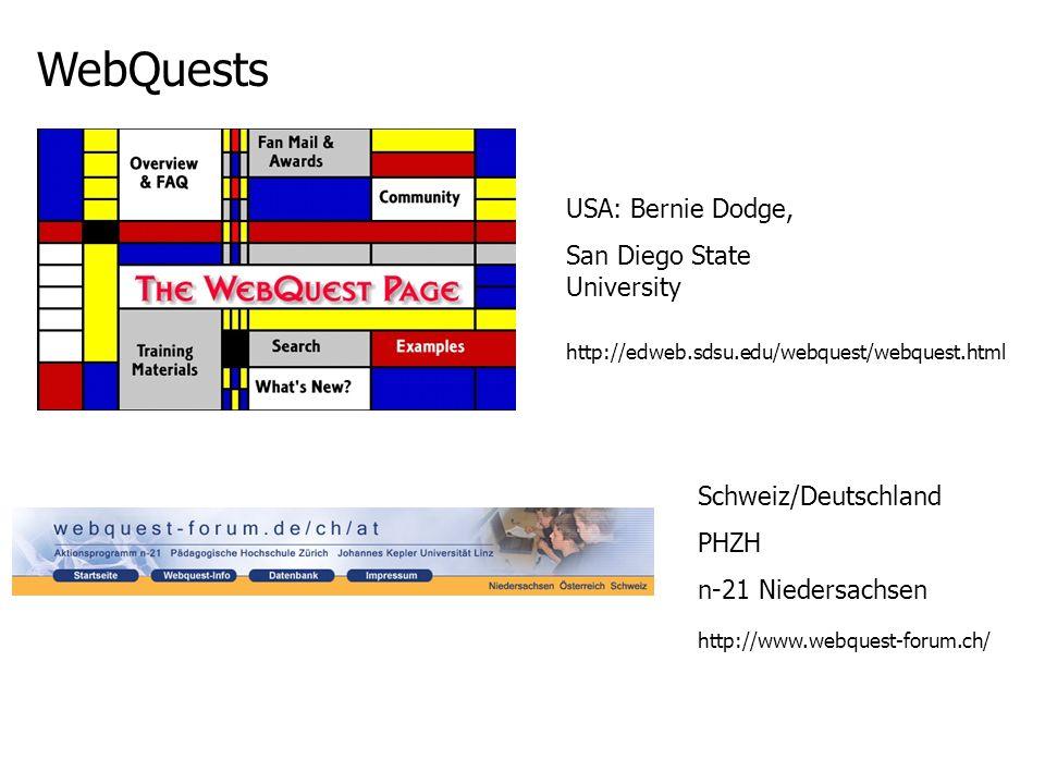 WebQuests USA: Bernie Dodge, San Diego State University