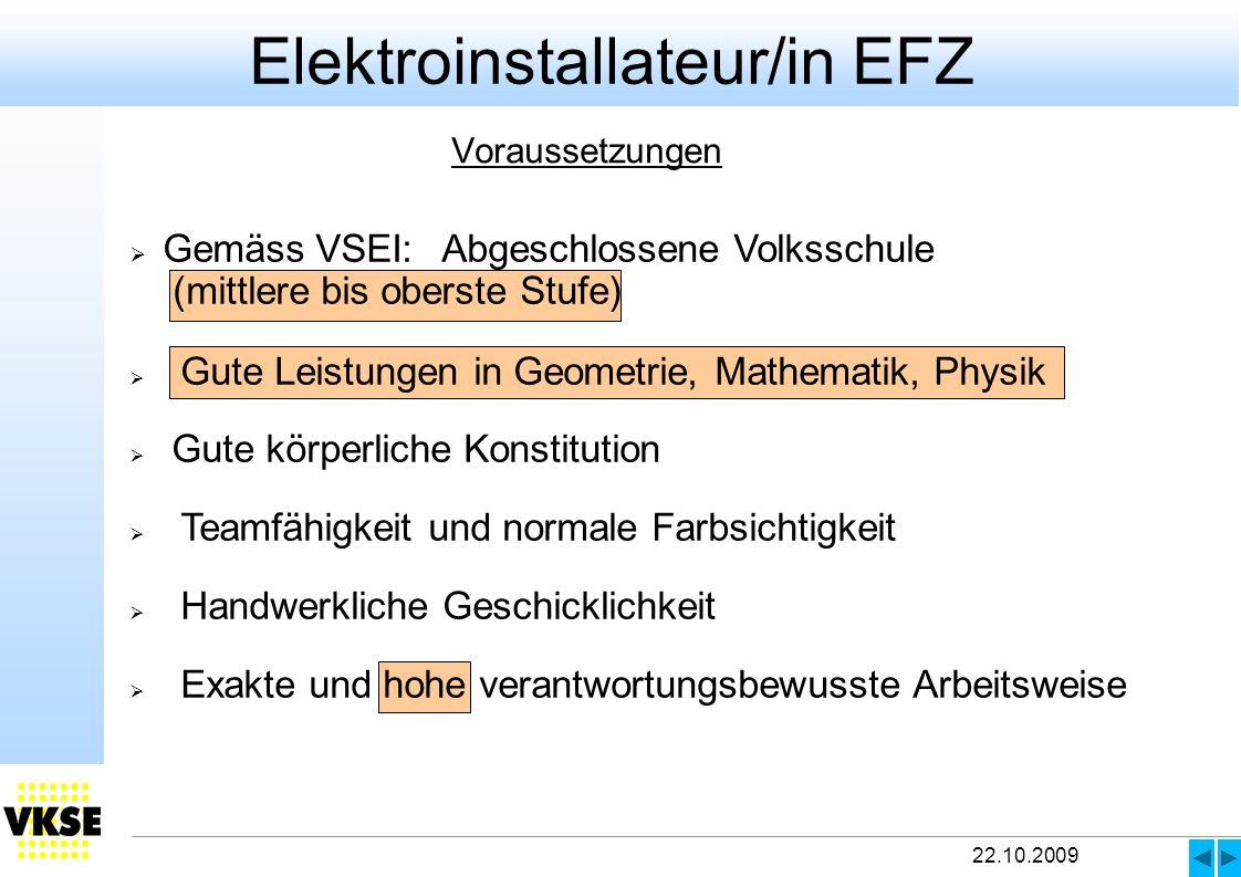 Elektroinstallateur/in EFZ