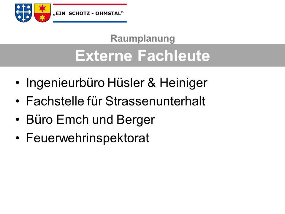 Externe Fachleute Ingenieurbüro Hüsler & Heiniger