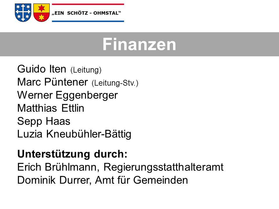 Finanzen Guido Iten (Leitung) Marc Püntener (Leitung-Stv.)