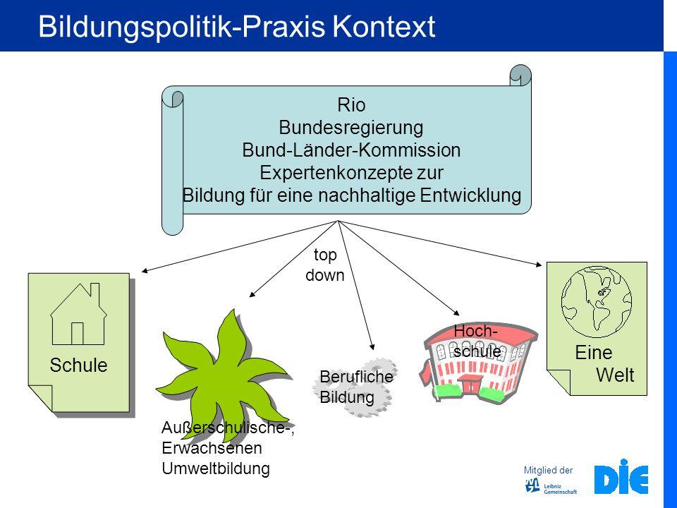 Bildungspolitik-Praxis Kontext