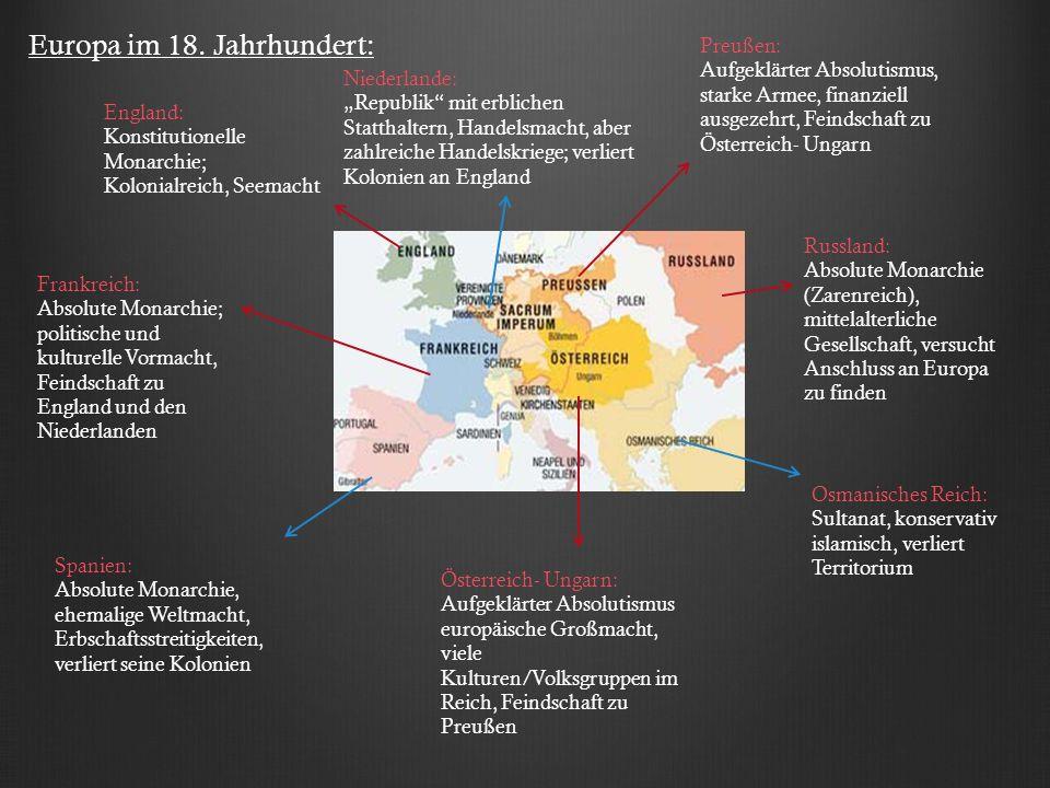 Europa im 18. Jahrhundert: