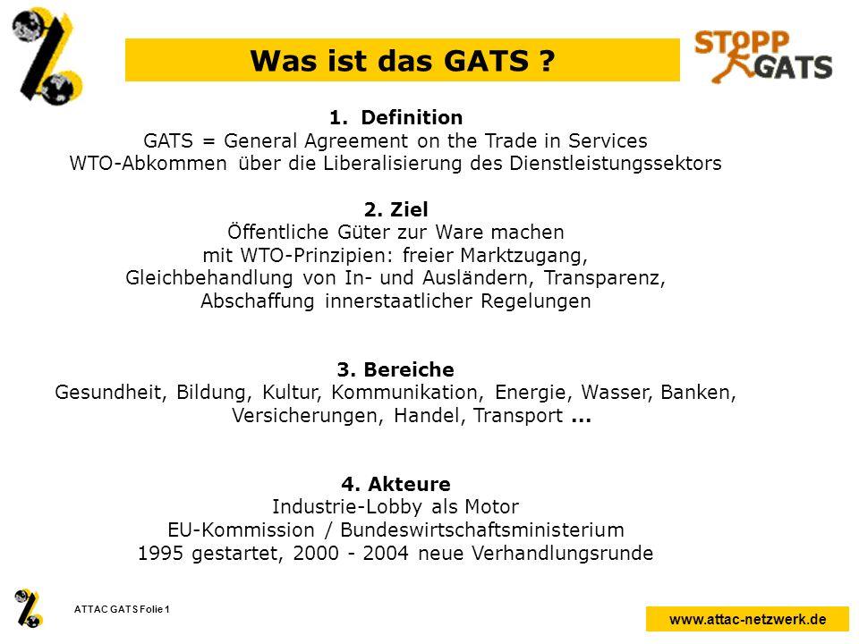 Was ist das GATS Definition