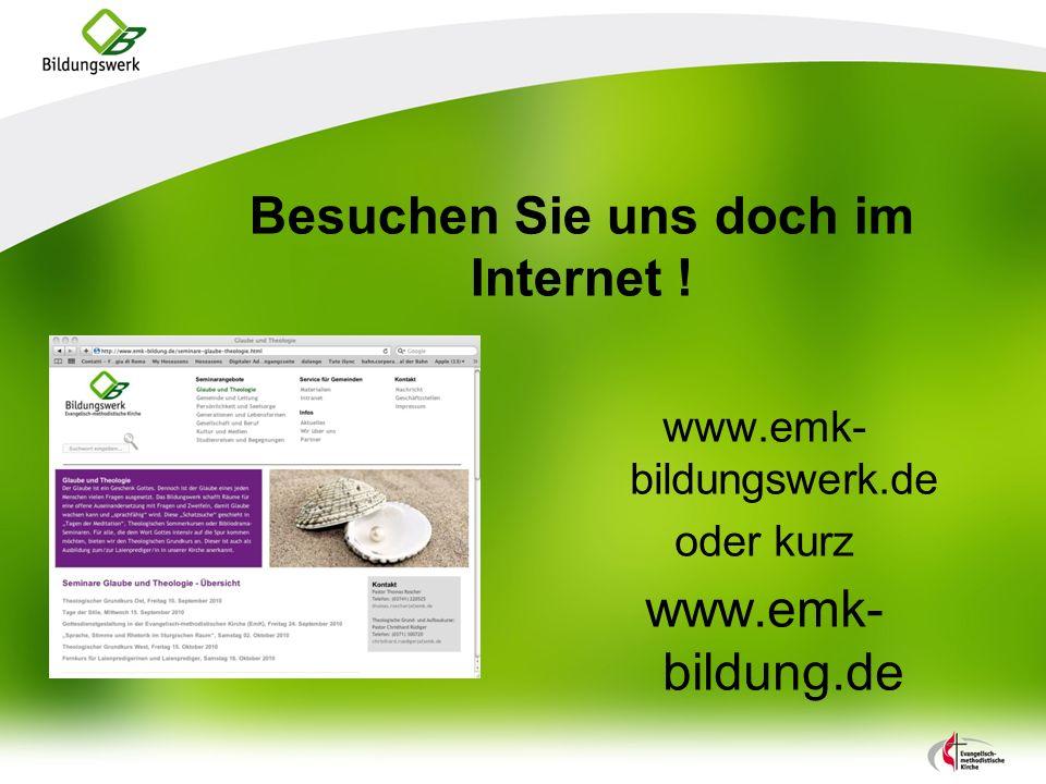 Besuchen Sie uns doch im Internet !
