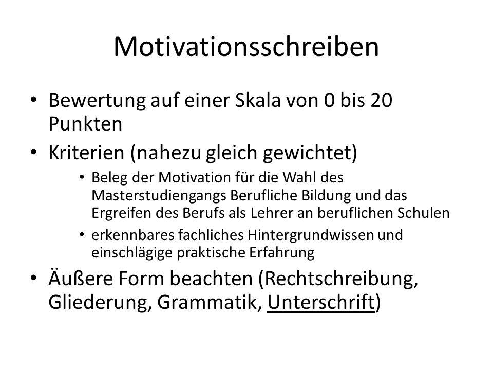 Motivationsschreiben