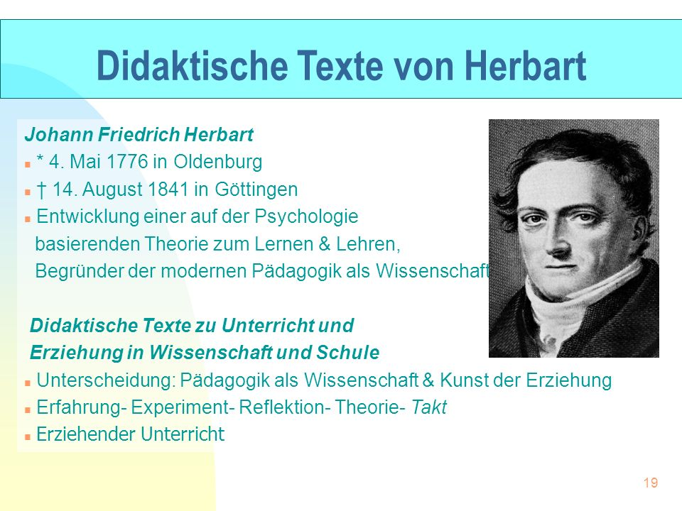 Didaktische Texte von Herbart