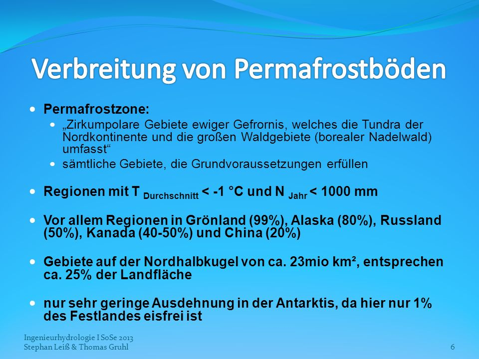Verbreitung von Permafrostböden