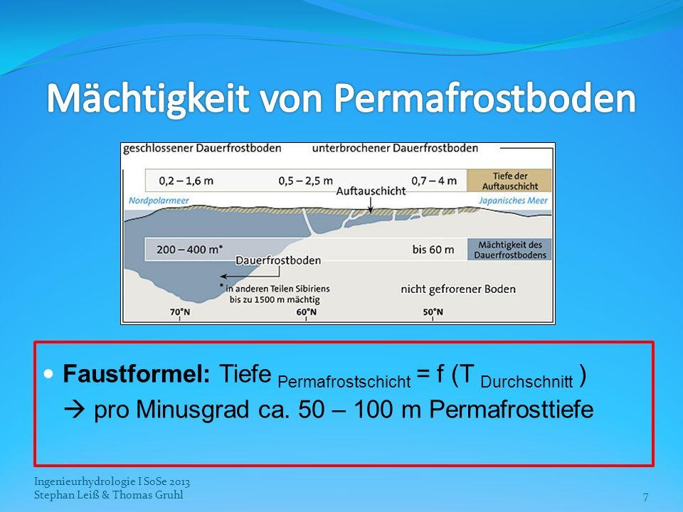 Mächtigkeit von Permafrostboden