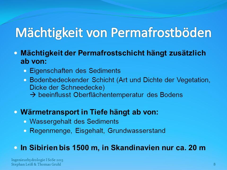 Mächtigkeit von Permafrostböden