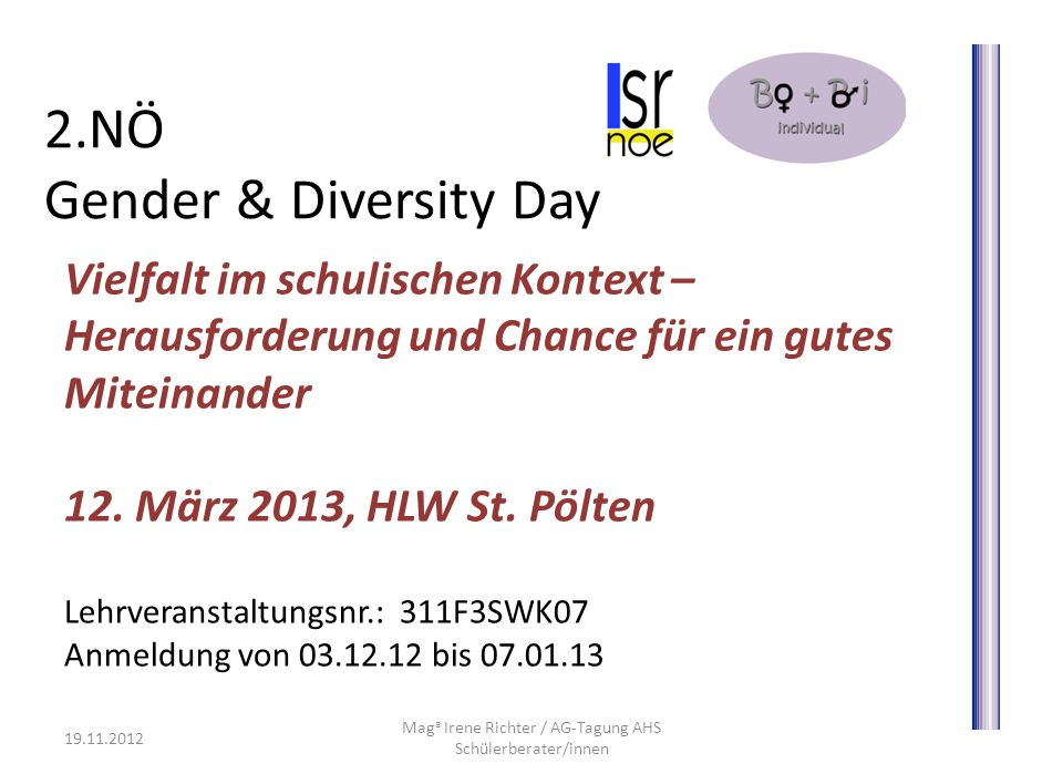 2.NÖ Gender & Diversity Day