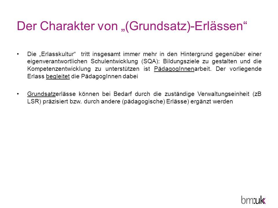"""Der Charakter von """"(Grundsatz)-Erlässen"""