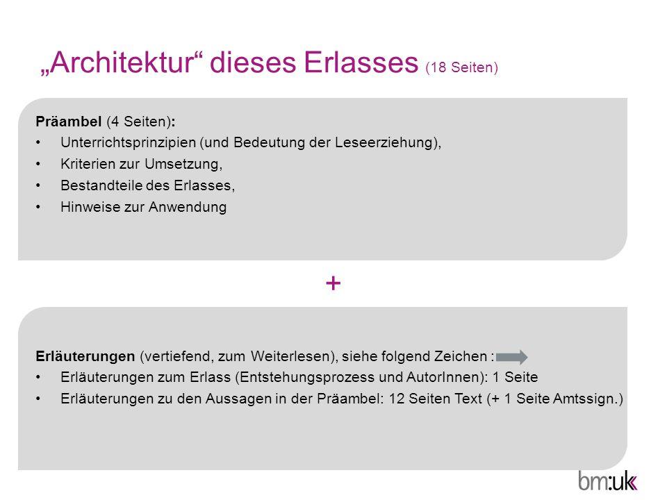 """""""Architektur dieses Erlasses (18 Seiten)"""