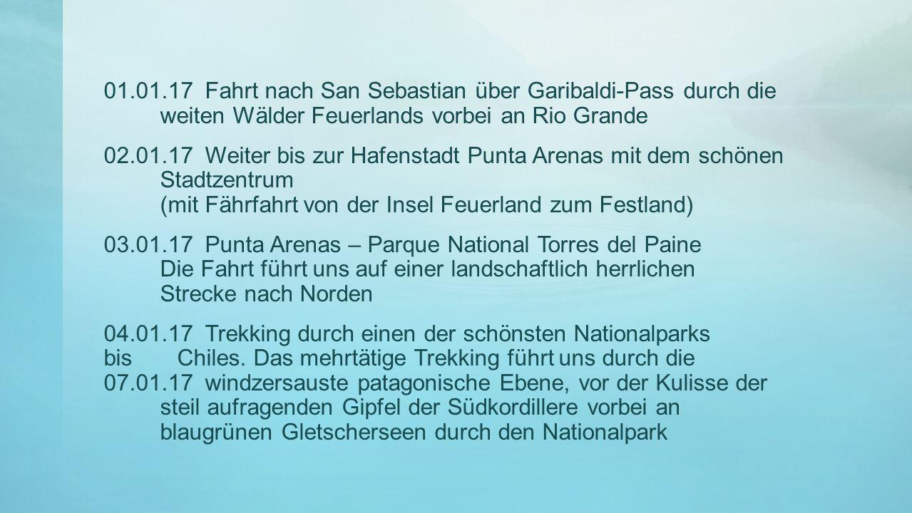 01.01.17 Fahrt nach San Sebastian über Garibaldi-Pass durch die weiten Wälder Feuerlands vorbei an Rio Grande
