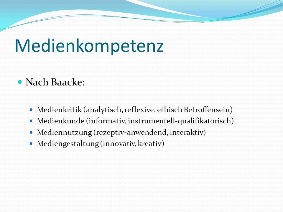 Medienkompetenz Nach Baacke:
