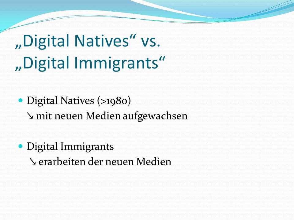 """Digital Natives vs. ""Digital Immigrants"