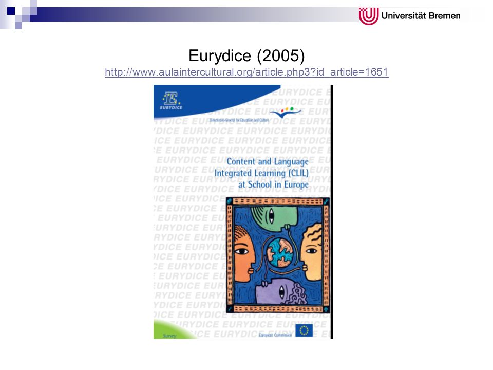 Eurydice (2005) http://www. aulaintercultural. org/article. php3