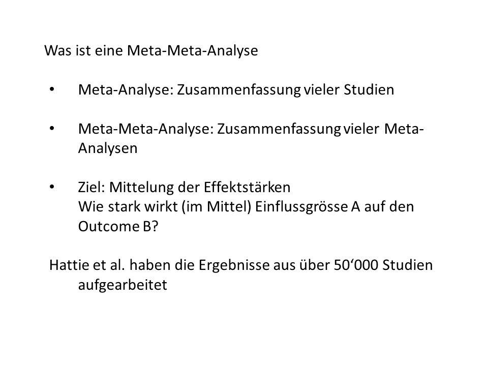 Was ist eine Meta-Meta-Analyse