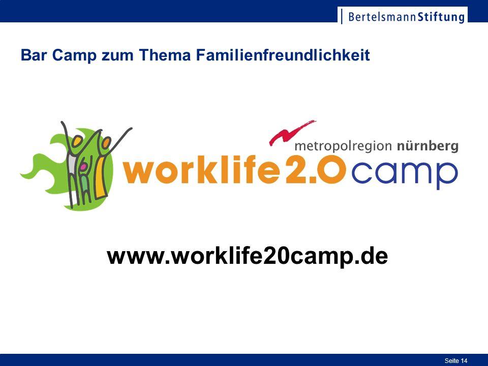 Bar Camp zum Thema Familienfreundlichkeit