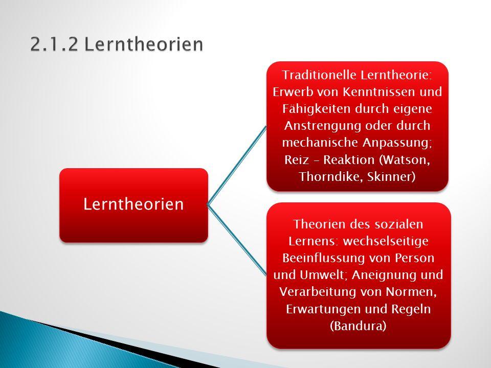2.1.2 Lerntheorien Lerntheorien