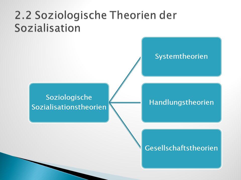 2.2 Soziologische Theorien der Sozialisation