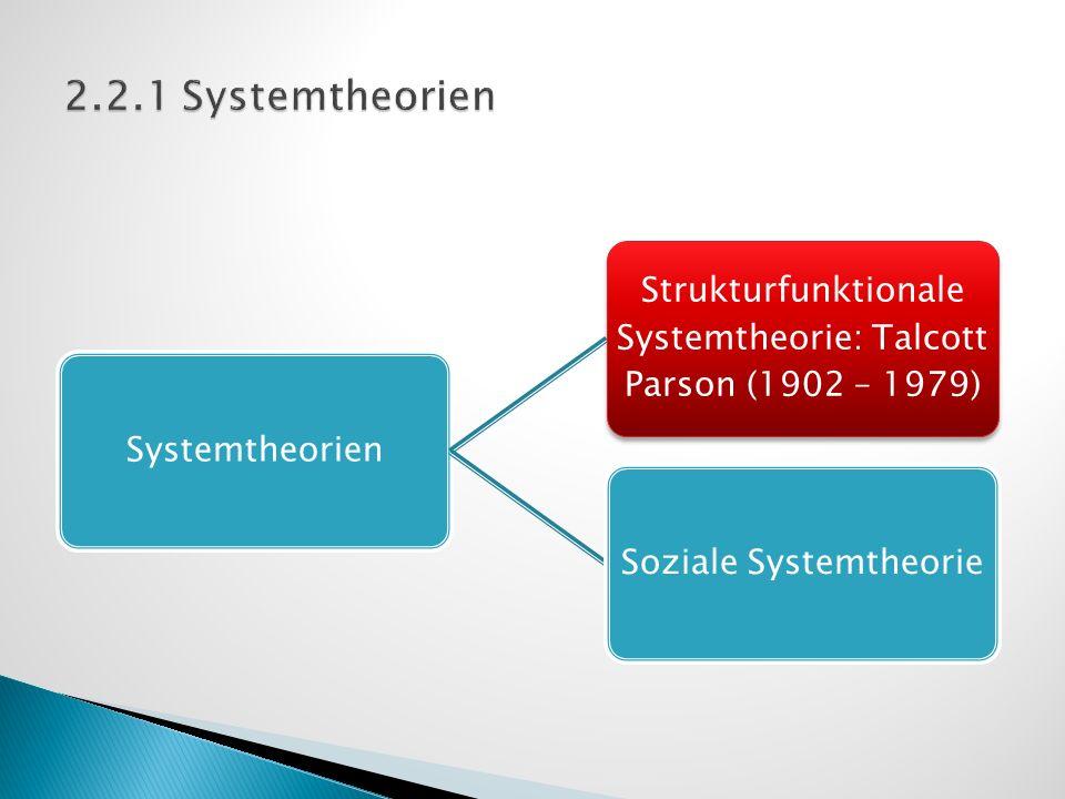 2.2.1 Systemtheorien Systemtheorien