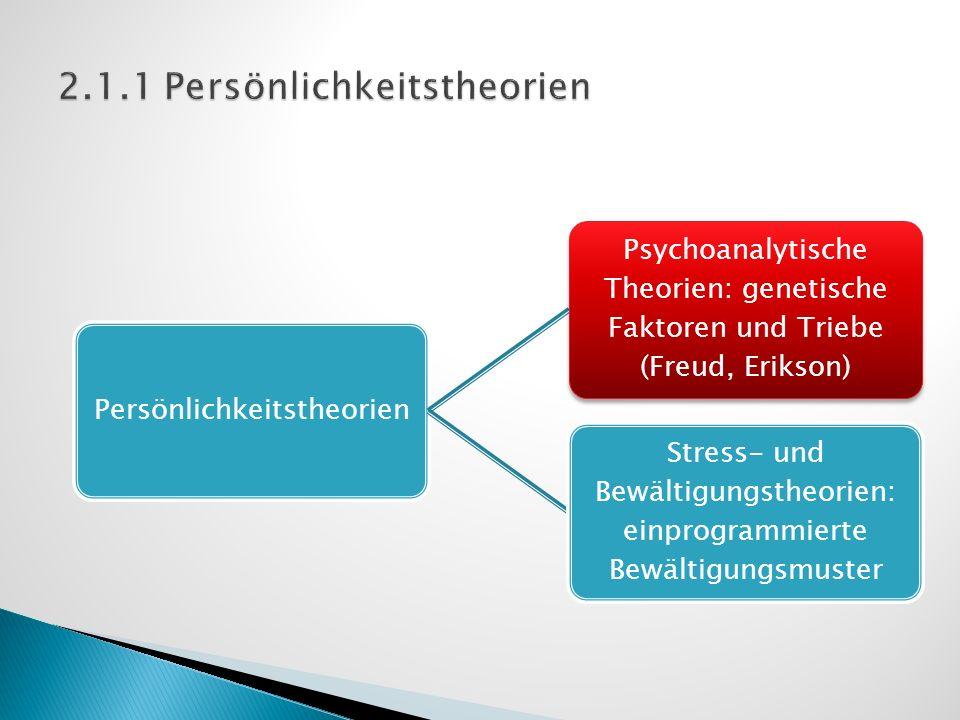 2.1.1 Persönlichkeitstheorien