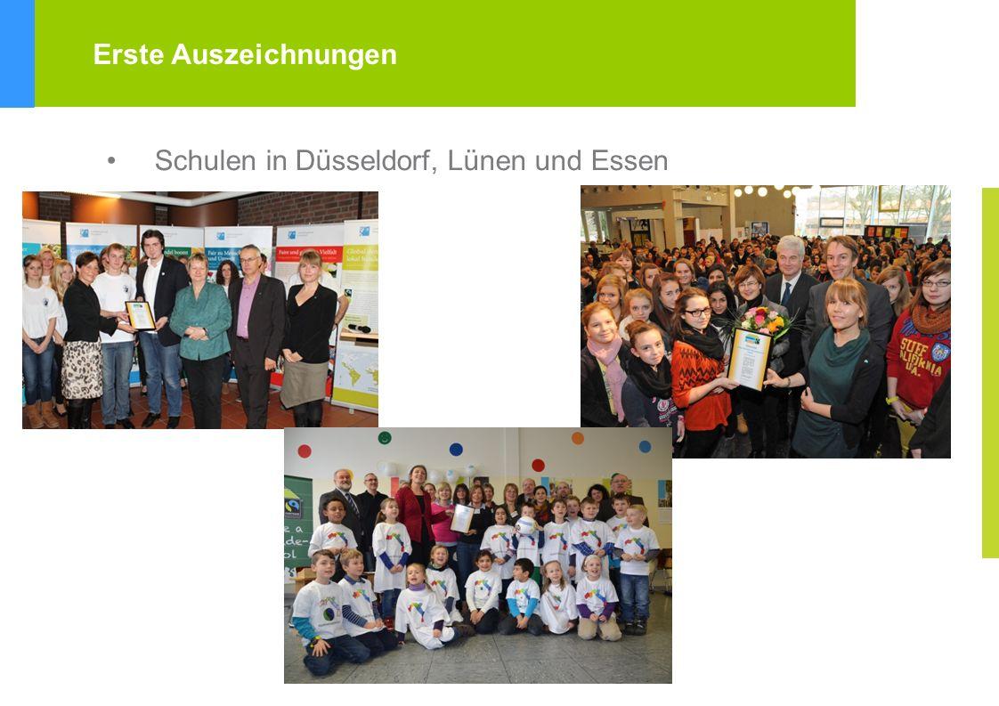 Erste Auszeichnungen Schulen in Düsseldorf, Lünen und Essen