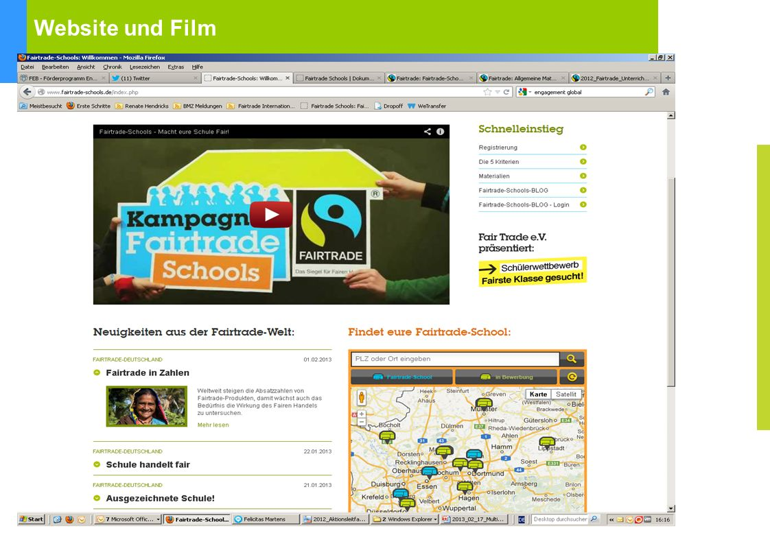Website und Film Kampagnenwebsite