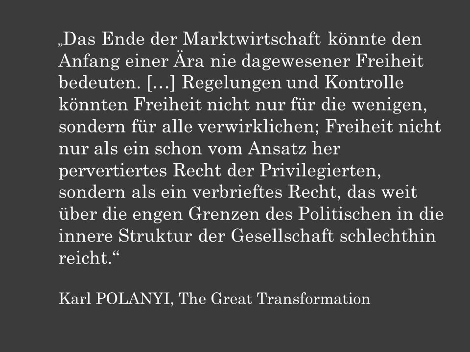 Karl POLANYI, The Great Transformation