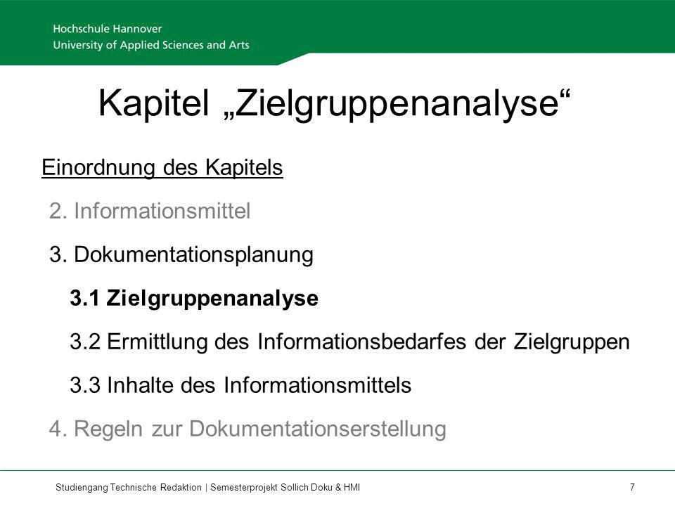 "Kapitel ""Zielgruppenanalyse"