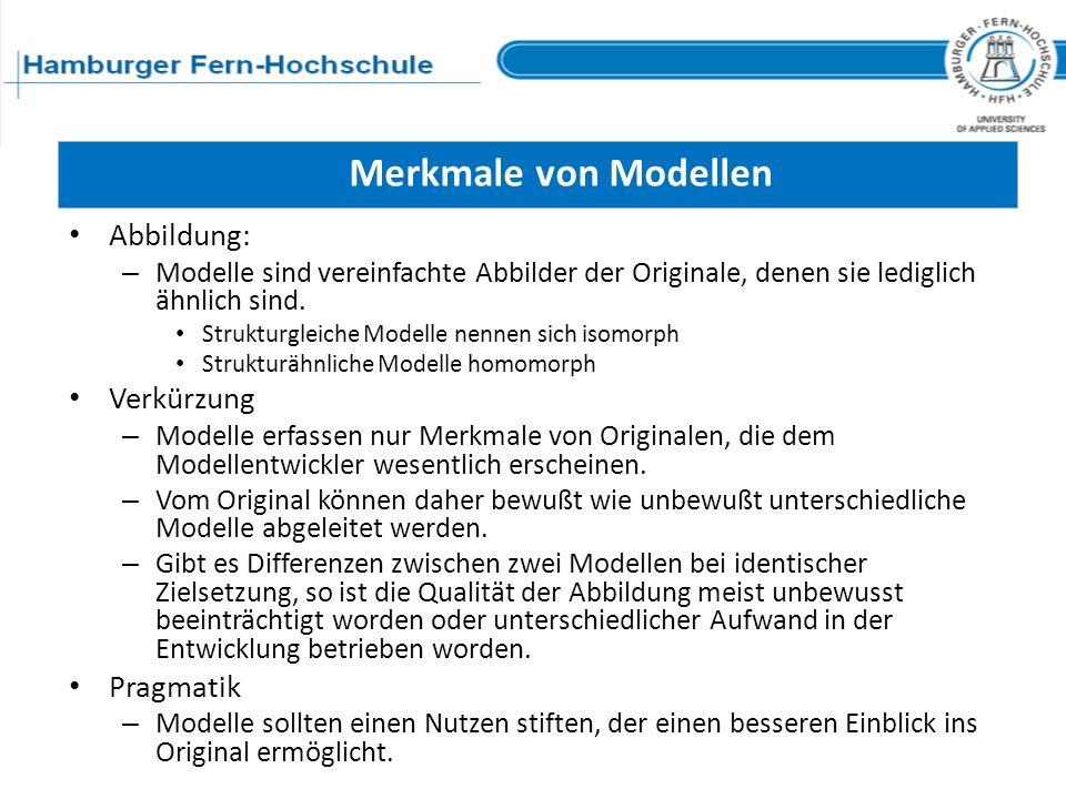 Merkmale von Modellen Abbildung: Verkürzung Pragmatik