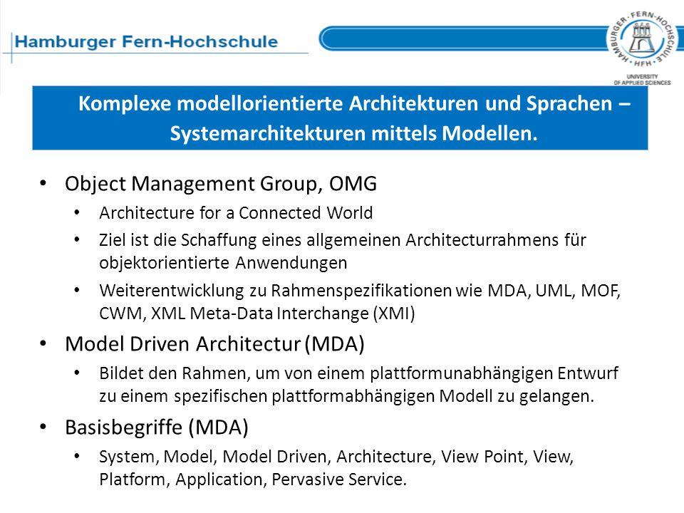 Komplexe modellorientierte Architekturen und Sprachen –
