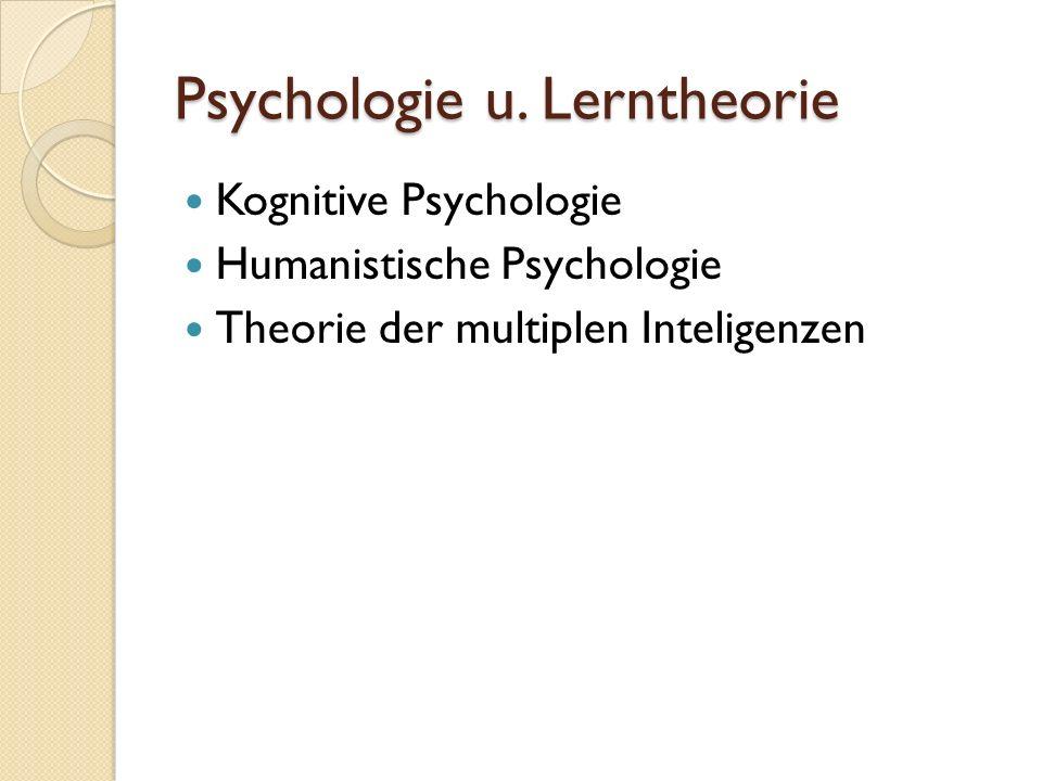 Psychologie u. Lerntheorie