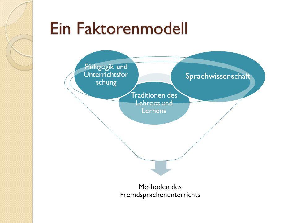 Ein Faktorenmodell Sprachwissenschaft