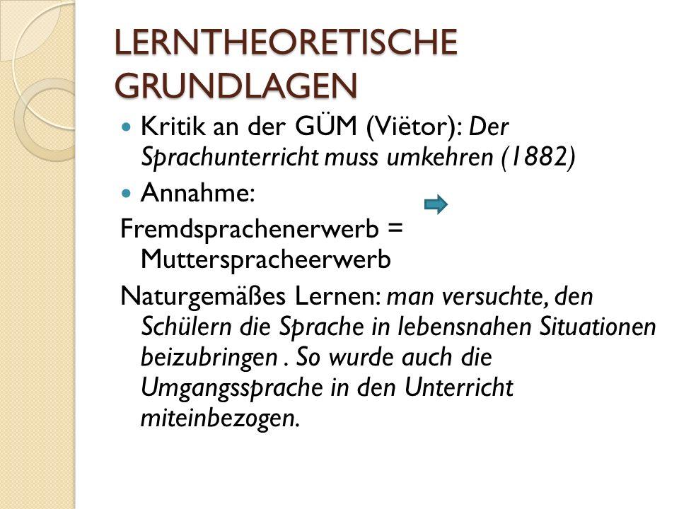 LERNTHEORETISCHE GRUNDLAGEN