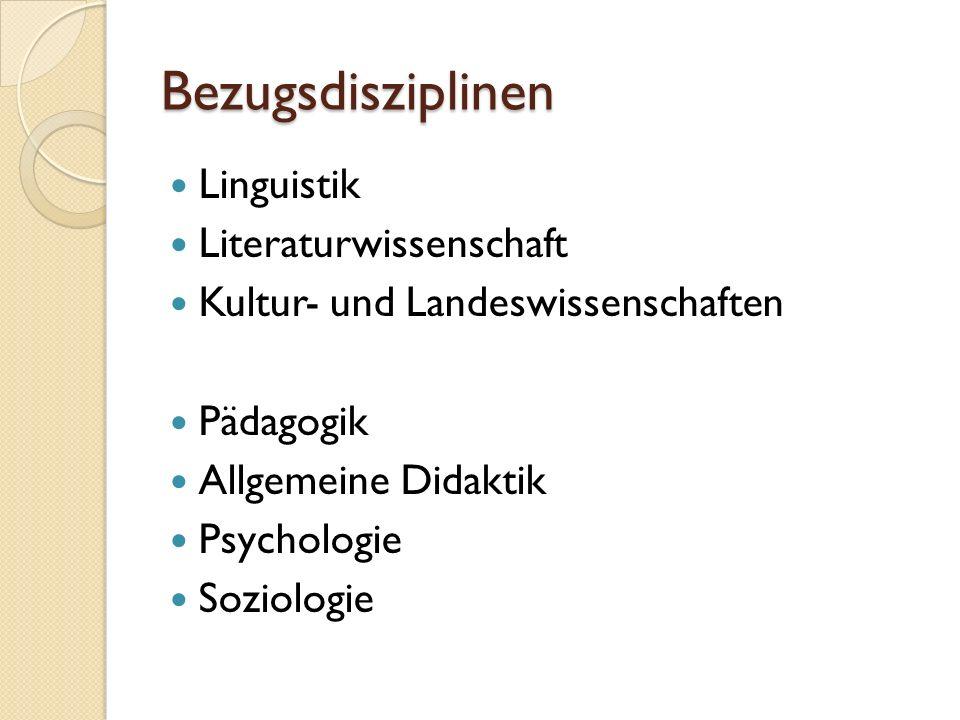 Bezugsdisziplinen Linguistik Literaturwissenschaft