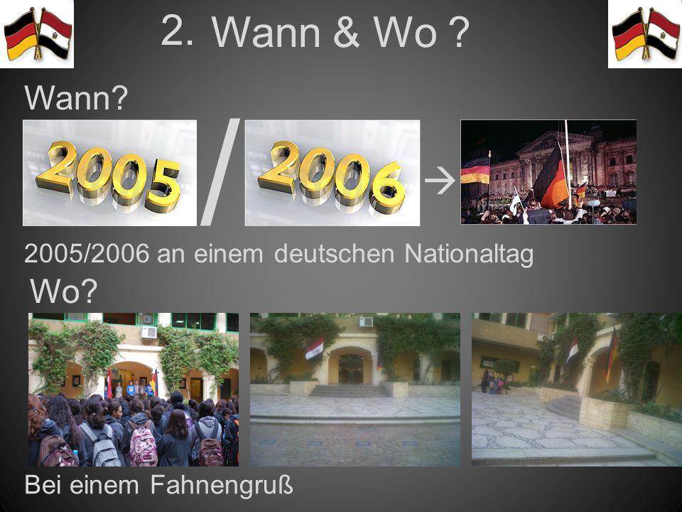 / 2005/2006 an einem deutschen Nationaltag Bei einem Fahnengruß