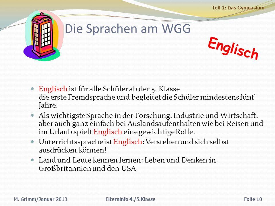 Die Sprachen am WGG Englisch